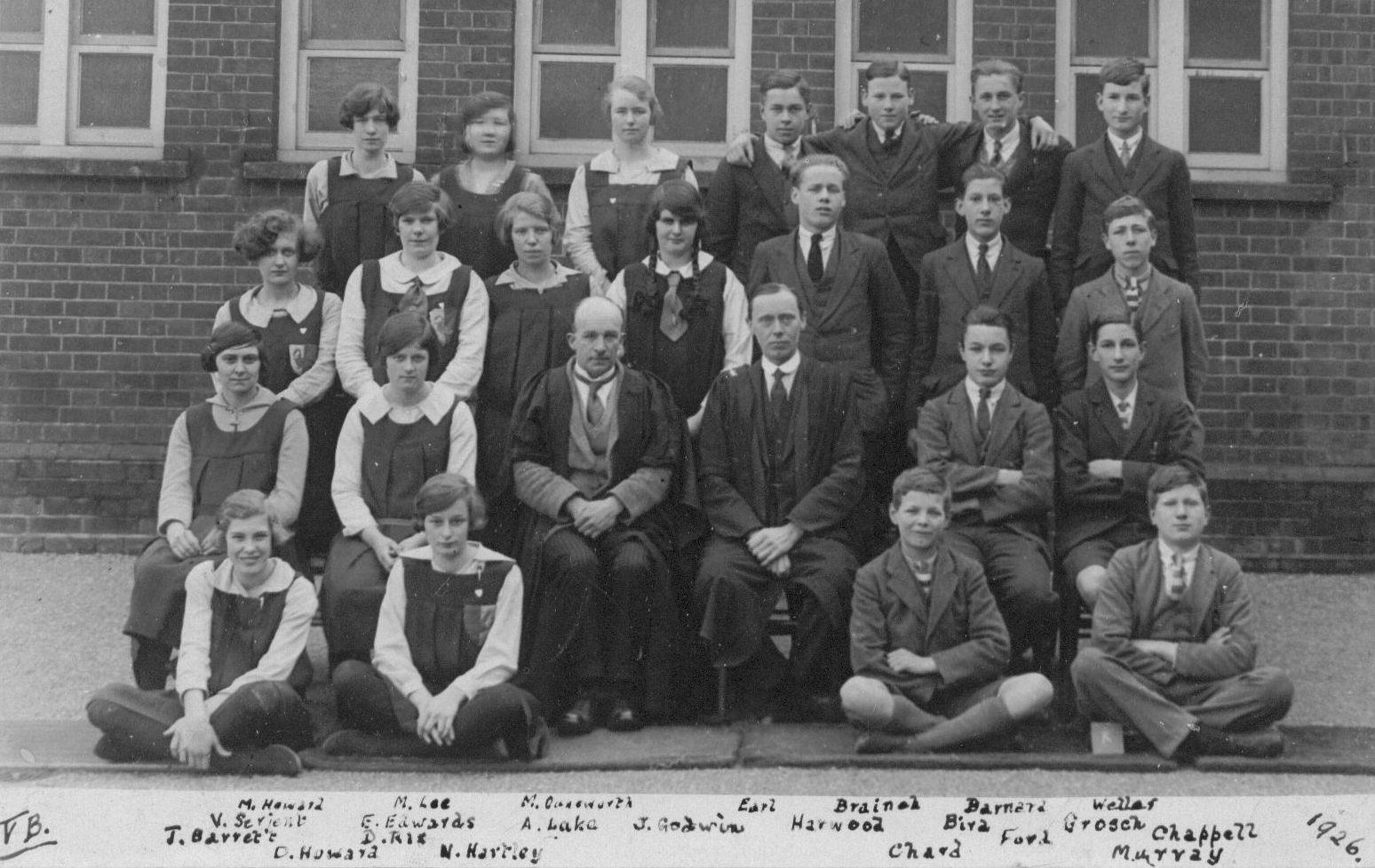 Slough Secondary Schook 1926 Form VB