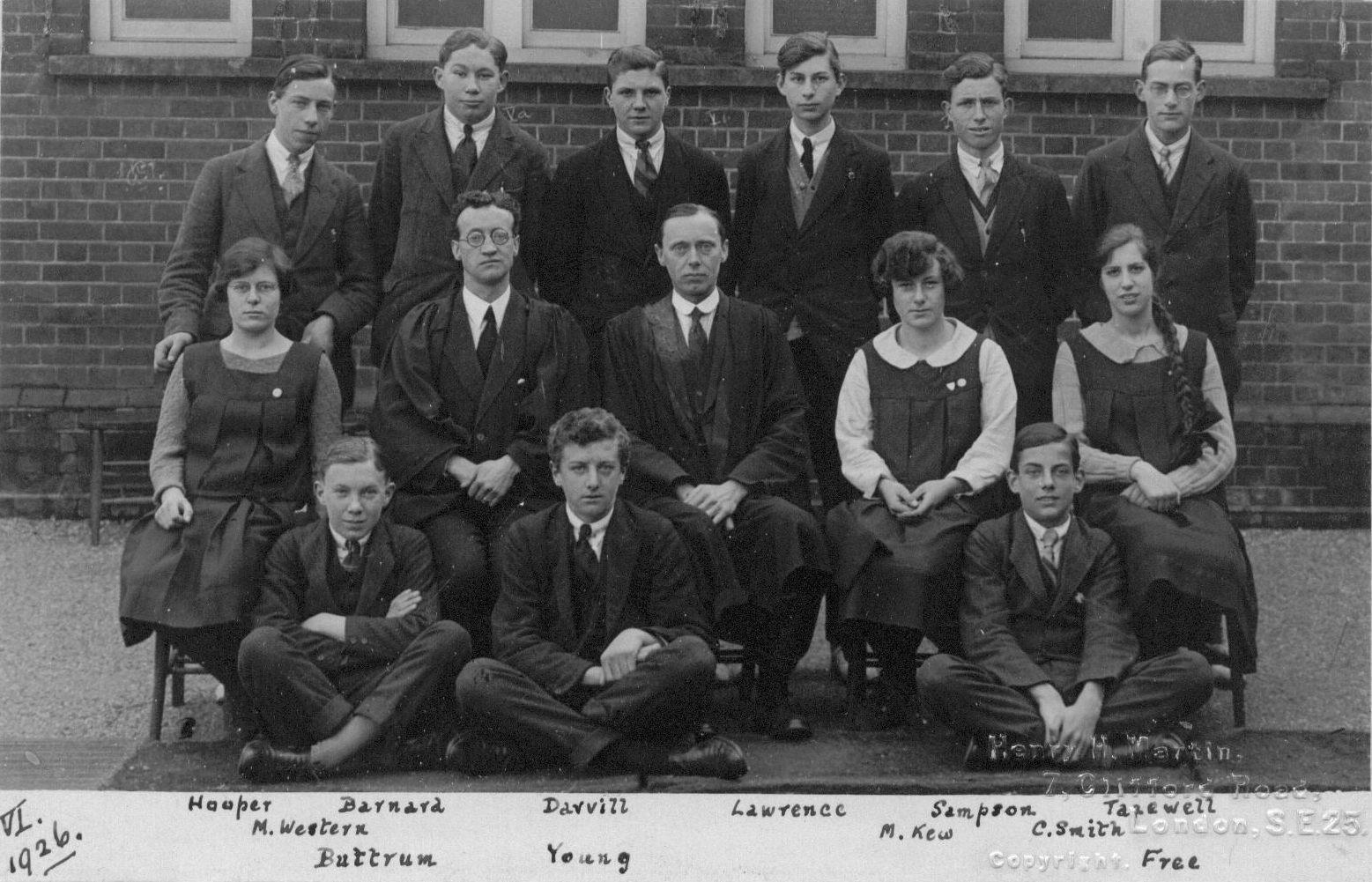 Slough Secondary Schook 1926 Form VI
