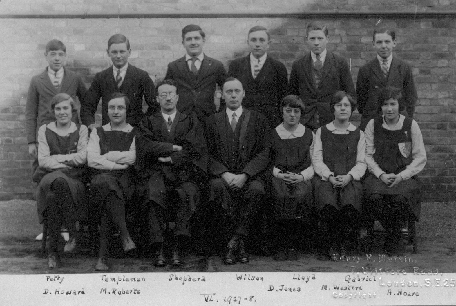 Slough Secondary School 1928 Form VI