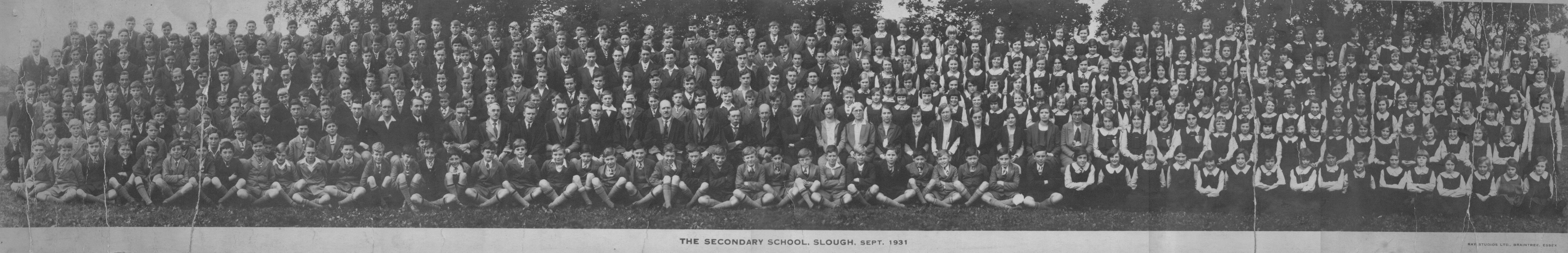 Slough Secondary School. 1931