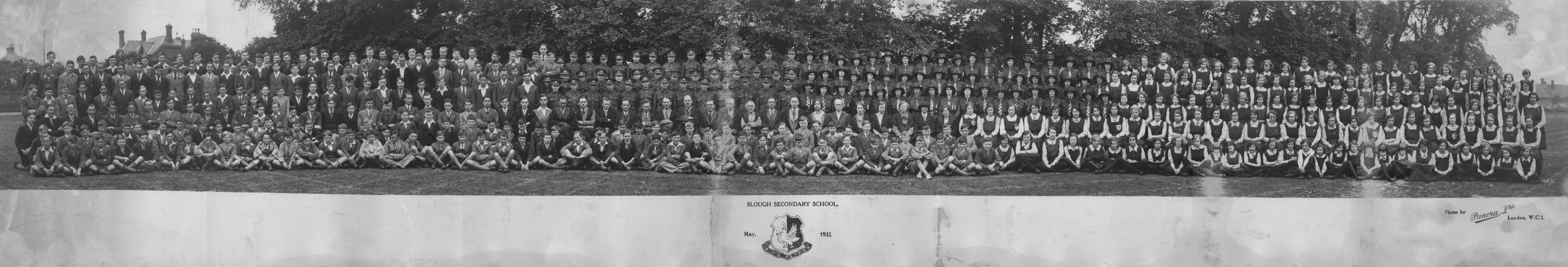Slough Secondary School. 1933