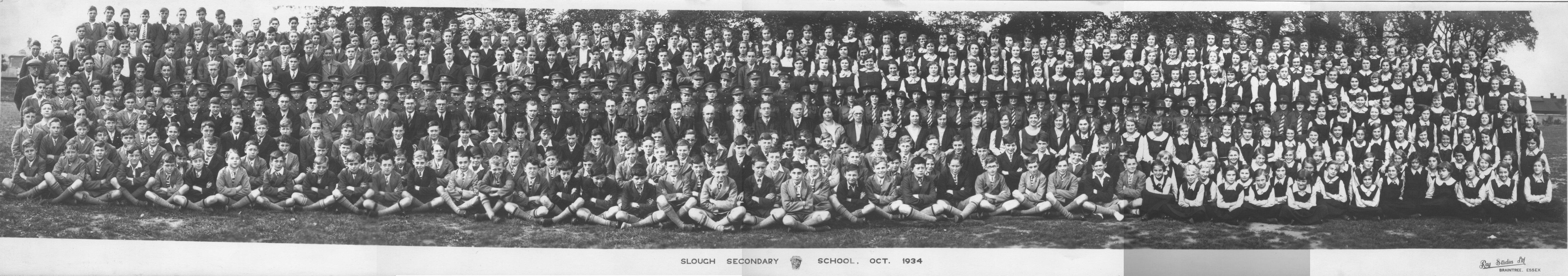 Slough Secondary School. 1934