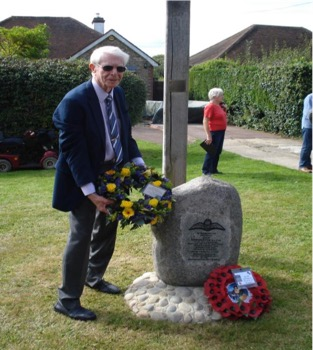OPA Chairman Ron Fidler lays a wreath in honour of Jack Hammerton