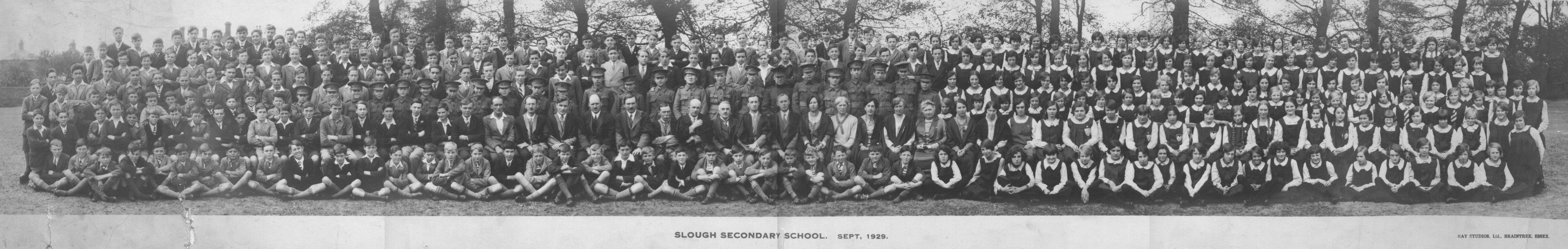 Slough Secondary School. 1929